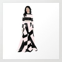 dress Art Prints featuring Dress by Maryam Toorani