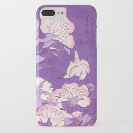Japanese FLowers Purple Pink iPhone Case