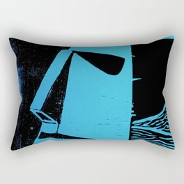 Photo Blue - Abstract Surrealism Print Rectangular Pillow