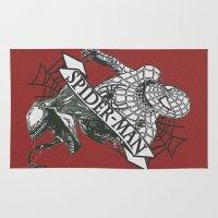 venom Area & Throw Rugs featuring Spider-Man / Venom by tshirtsz