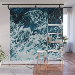 Disobedience - ocean waves painting texture Wall Mural
