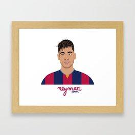 NEYMAR - FC BARCELONE Framed Art Print