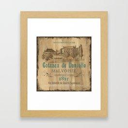 Barrel Wine Label 2 Framed Art Print
