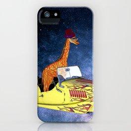 Giraffe in Space iPhone Case
