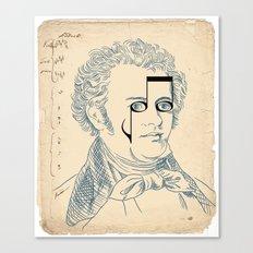 Franz Schubert Canvas Print