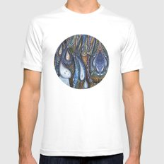 Dewdrop Meets the Rain White Mens Fitted Tee MEDIUM