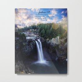 Iphone X Joshua 1:9 Waterfall Metal Print