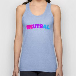 Neutral (Androgynous) Unisex Tank Top