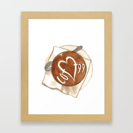 Coffee Love Latte Art Framed Art Print