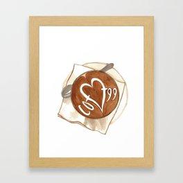 Coffee Love Latte Art Framed Art Print