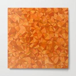 Crackled Orange Metal Print