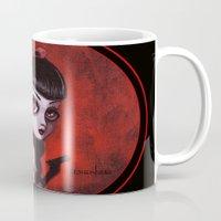 tina Mugs featuring 7-Tina by Dienzo Art