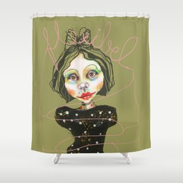 flexible girl Shower Curtain