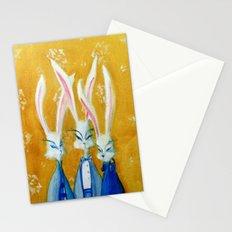 rabbit family Stationery Cards