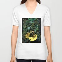 bats V-neck T-shirts featuring Lil' Bats by Sheep-n-Wolves Clothing