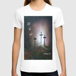 Still the Light Scripture Painting T-shirt