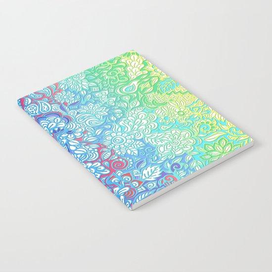 Fantasy Garden Rainbow Doodle Notebook