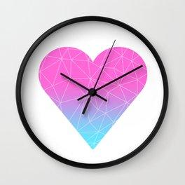 Ombre Heart Wall Clock