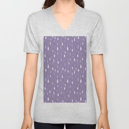 Stains Abstract Ultraviolet Unisex V-Neck