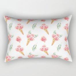 Floral Chill Rose Rectangular Pillow