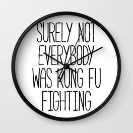 Kung Fu Fighting Wall Clock