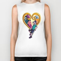 kingdom hearts Biker Tanks featuring Kingdom of Adventure // Adventure Time // Hearts by ⚡eizure ⚡quid ⚡tudio