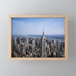 Aerial view of New York City Framed Mini Art Print