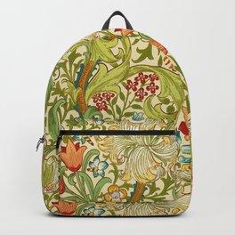 William Morris Golden Lily Vintage Pre-Raphaelite Floral Art Backpack