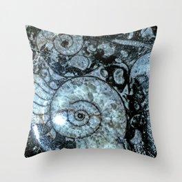 Goniatite Ammonite Throw Pillow