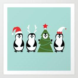 Penguin Party Art Print