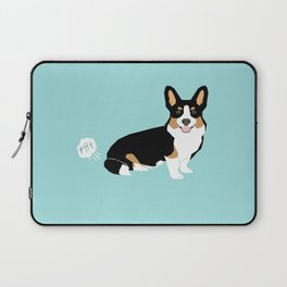 Corgi funny fart dog pure breed gifts dog lovers tricolored corgis Laptop Sleeve