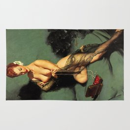 Fascination Gil Elvgren Pin Up Girl Rug