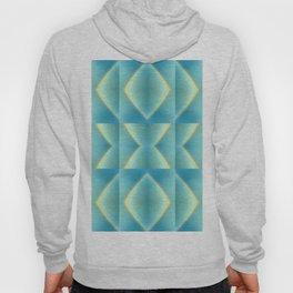 Green Blue Metallic Geometric Pattern Hoody