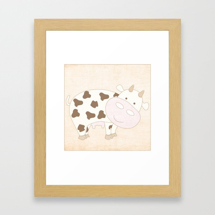 Cow Animal Farm Series Framed Art Print