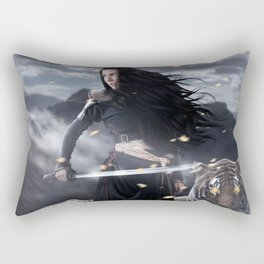 Warrior woman Rectangular Pillow