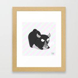 Taurus pug - pugzodiac Framed Art Print