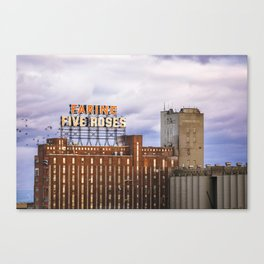 Montreal Farine Five Roses, Montreal Iconic, Urban photo, Architecture, modern Canvas Print