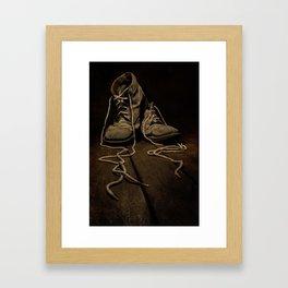 Old Brown Shoes Framed Art Print