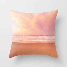 Sunset on Rockaway Beach, New York Throw Pillow