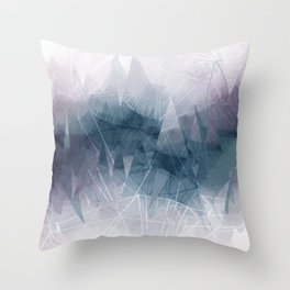 Ameythist Crystal Inspired Modern Abstract Throw Pillow