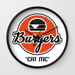 Eat My Burgers Wall Clock