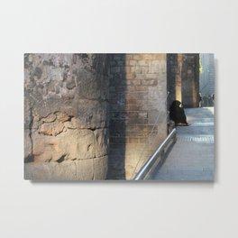Barcelona - A Beggar at the Gothic quarter Metal Print