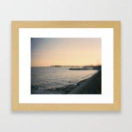 Toronto Island Pier Framed Art Print
