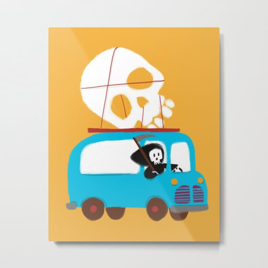 Death on wheels Metal Print
