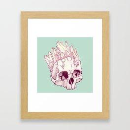 Skull No.2 // The Cristallized One Framed Art Print