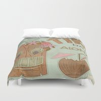 aloha Duvet Covers featuring Aloha by Robin Curtiss
