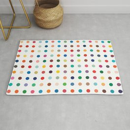 Color theory • Hues and tones •Abstract dot grid • Geometric pattern •Modern design •Minimalism Rug