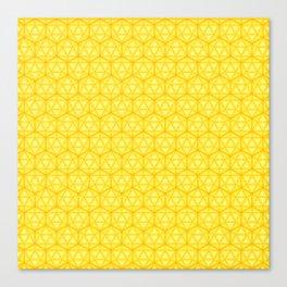 d20 Icosahedron Honeycomb Canvas Print