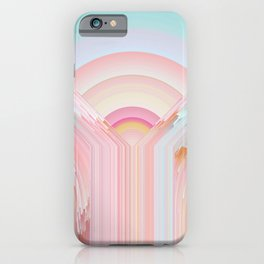Rainbow on Glitches iPhone Case