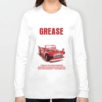 grease Long Sleeve T-shirts featuring Grease Movie Poster by FunnyFaceArt